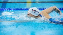 Le parrainage de ProMinent est visible dans le monde entier – sur la tenue de sport de Sarah Köhler et sur son bonnet de bain.